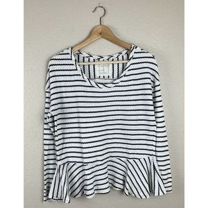 We the Free Striped Peplum Knit Top